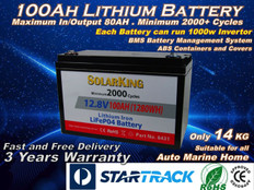 100AH Lithium LiFe PO4 SolarKing Battery - LB-100-12-80 - Free Delivery