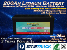 200AH Lithium LiFe PO4 SolarKing Battery - LB-200-12-80 - Free Delivery