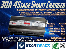 7A 12A 20A 30A Selectable 4 Stage Smart Battery Charger 240V to12V free delivery