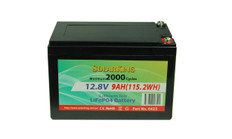 12V  9AH  Solarking Lithium Battery  LB-9-12-10  2000+Cycles Lightweight Recharge free delivery