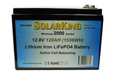 120AH Lithium LiFe PO4 SolarKing Battery - CB-120-12-100