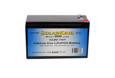 7AH12V 7AH Solarking Lithium Battery CB-7-12-5 Ion 2000+Cycles Lightweight Recharge Free delivery