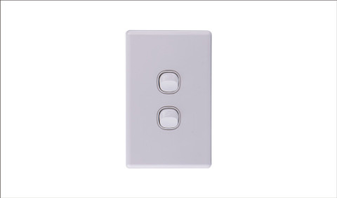 Two Gang Two Way Switch 16Amp Vertical