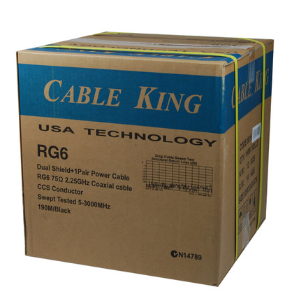 CableKing RG 6+ VDC Security Cable