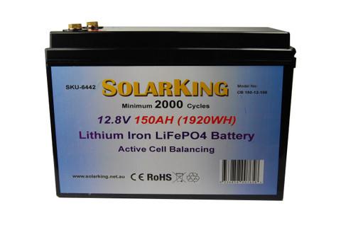 150AH Lithium LiFe PO4 SolarKing Battery - CB-150-12-100