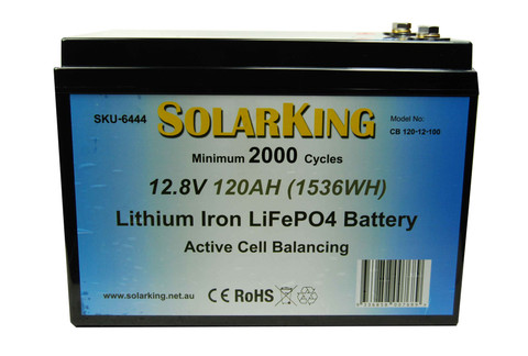 120AH Lithium LiFe PO4 SolarKing Battery - CB-120-12-100