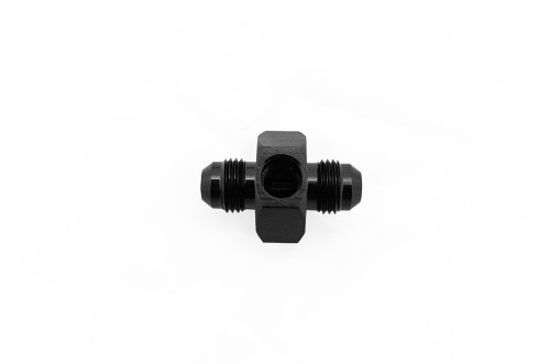 AN10 Male to Male Flare With Metric M10 x 1.0 Port   12mm depth cut featuring flared seat for use with the Bosch pressure and temperature M10 sensors     These fittings make it easy to add a Bosch combination temperature and pressure sensor into your fuel or oiling system.