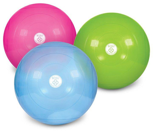 3 bosu ballast balls colour green, pink and blue