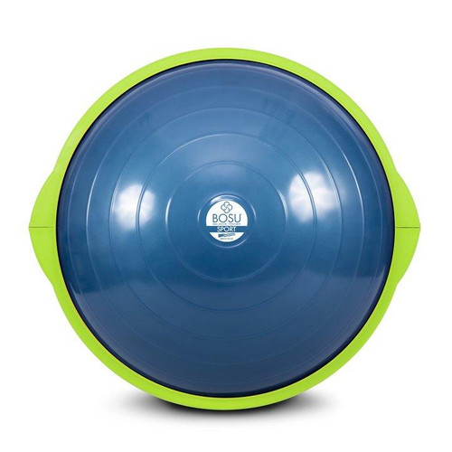 bosu sport 45 cm balance trainer blue with green rim on base front view