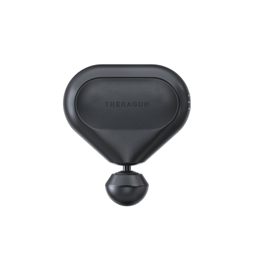 theragun mini black ultra portable and quiet massage treatment front view