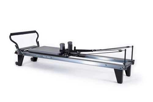 allegro reformer by balanced body grey and colour for pilates workouts