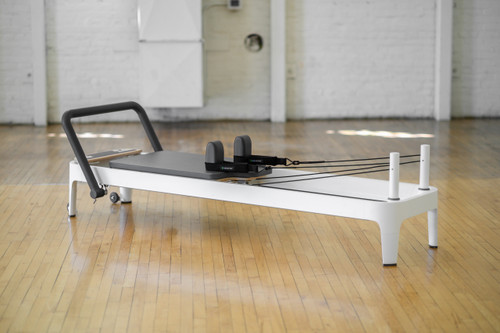allegro 2 reformer by balanced body pictured in pilates studio