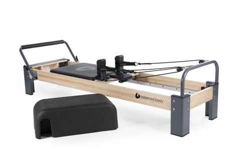 rialto reformer with sitting box lite by balanced body for pilates training
