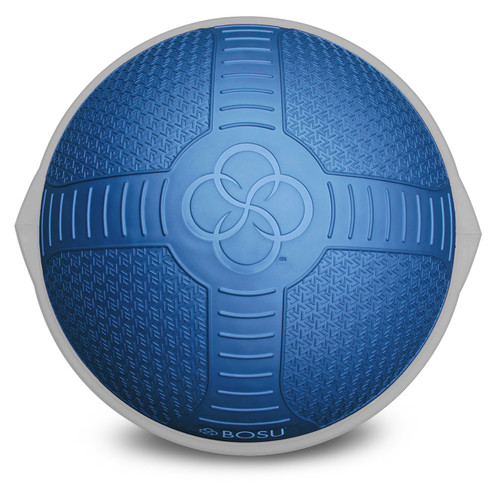 bosu nexgen balance trainer front view,   textured dome with 4 quadrants to help with grip and positioning