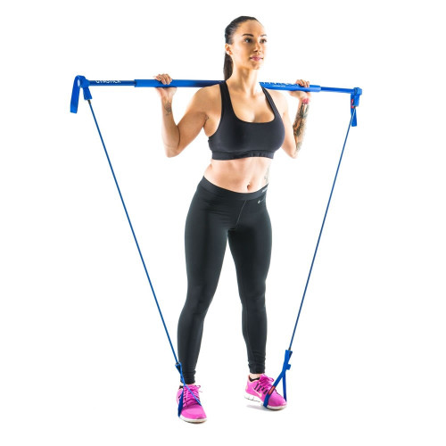 woman training with gymstick original 2.0 for strengthening  and muscle toning