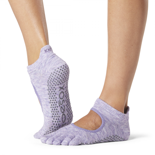 bellarina heather purple colour sock for pilates and yoga