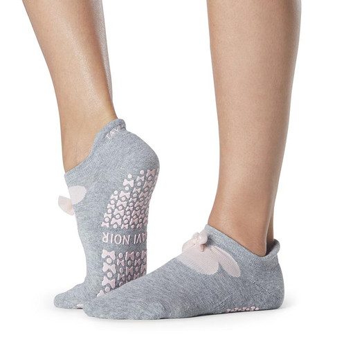 minnie mouse design pilates socks with non slip grip for pilates and yoga
