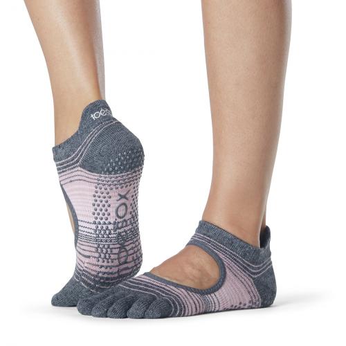 grey and pink socks for pilates and yoga