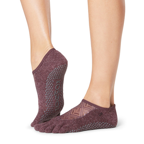 purple socks for pilates and yoga training by toesox