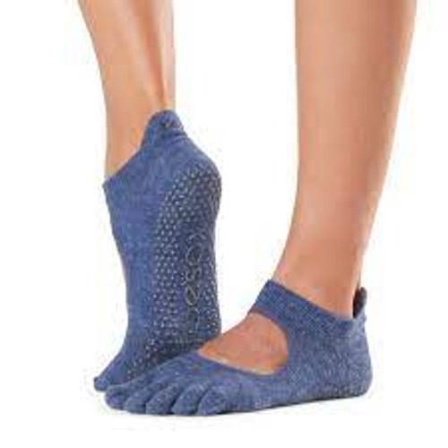 μπλε σκούρες κάλτσες με άνοιγμα στην καμάρα, αντιολησθητικές