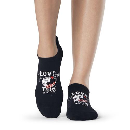 μαυρες κάλτσες mickey & minnie disney design για pilates και Yoga