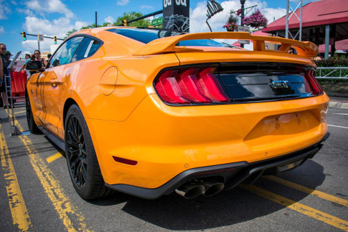 2015+ MUSTANG COUPE PERFORMANCE REAR WING NO-LIGHT FACTORY-STYLE SPOILER  (not convertible)