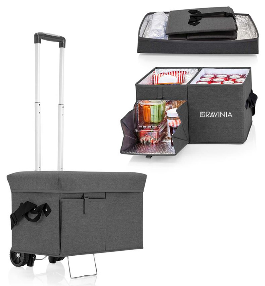 OTTOMAN COOLER W/ TROLLEY GRAY