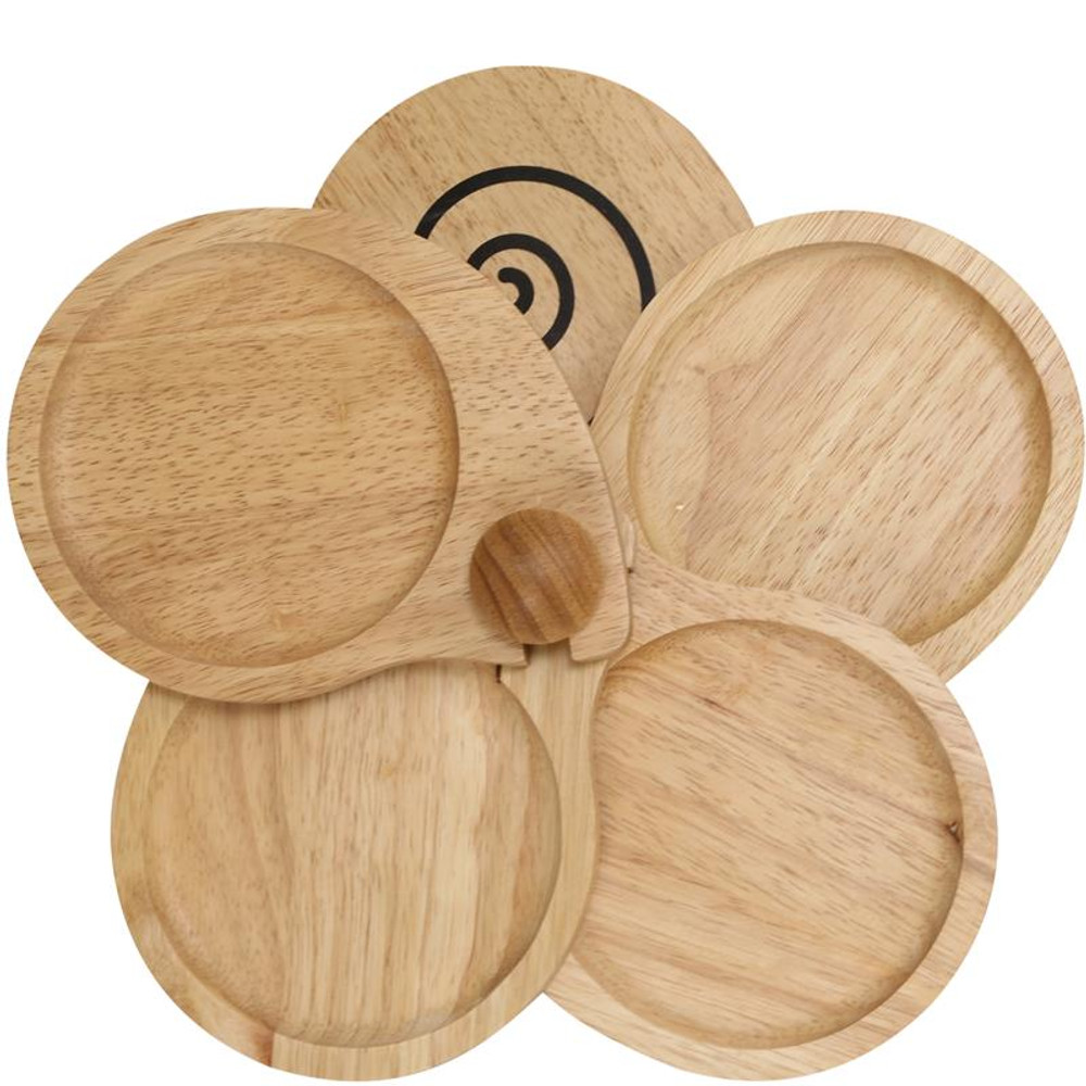 WOOD APPETIZER TRAY SNAIL