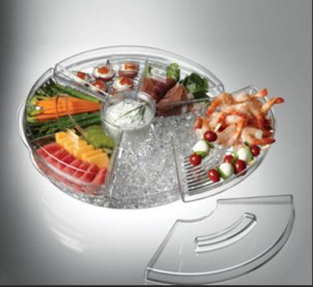 APPS ON ICE  TRAY W/ LID