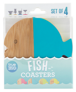 COASTERS DIPPED FISH SET OF 4