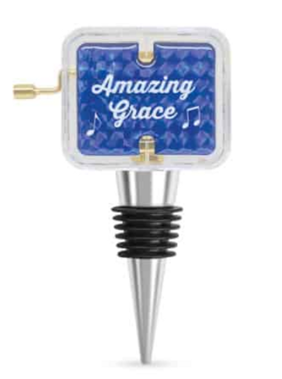 AMAZING GRACE MUSICAL BOTTLE STOPPER