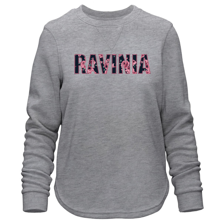 LADIES COMFY CREW GRAY SWEATSHIRT