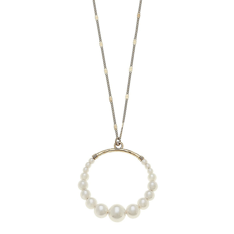 PENDANT PEARL CIRCLE NECKLACE