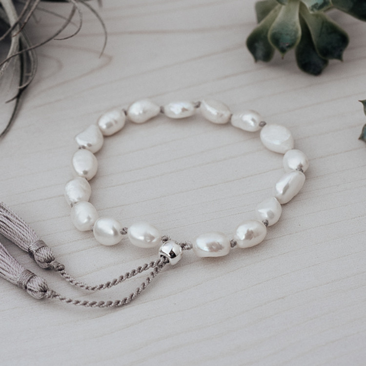 WHITE PEARLS HUMBLE BRACELET