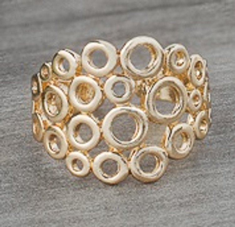 GOLD STACKED CIRCLE RING