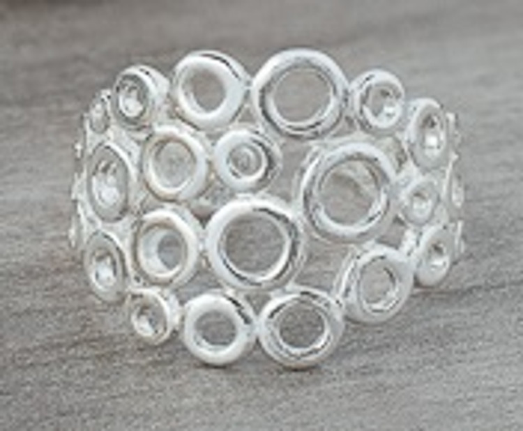 SILVER STACKED CIRCLE RING