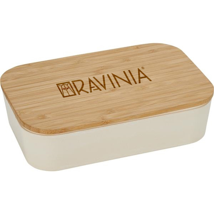 BAMBOO LUNCH BOX WITH CUTTING BOARD LID