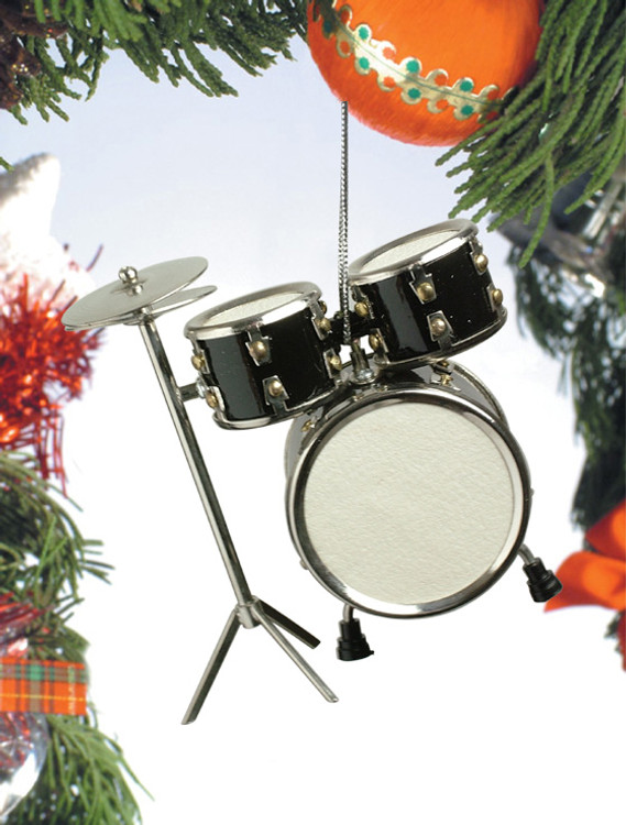 Black Drum Set Ornament