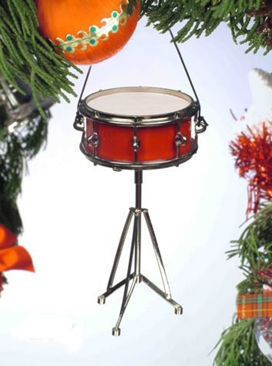 Red Snare Drum Ornament