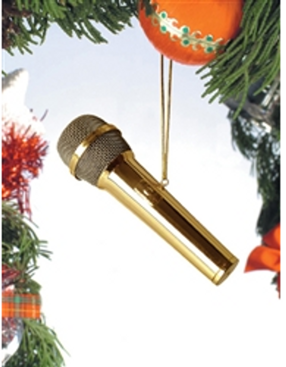 ORNAMENT GOLD MICROPHONE