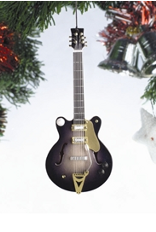 BLACK ELECTRIC GUITAR ORNAMENT