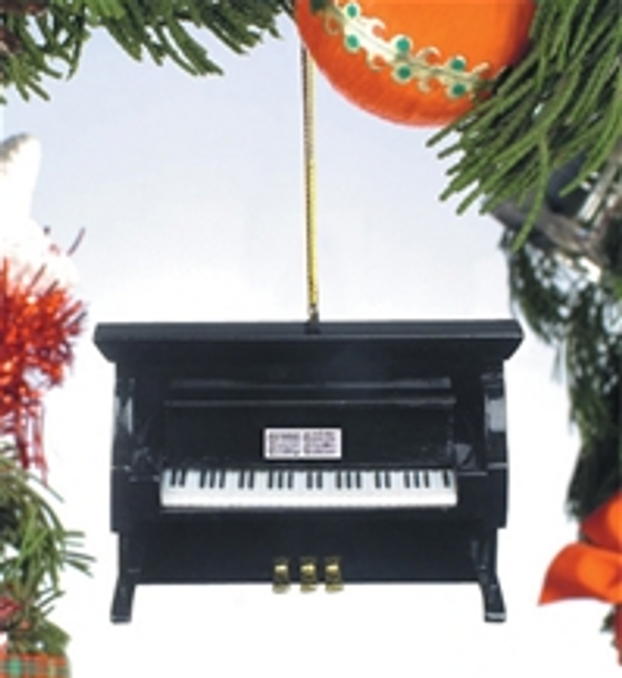 BLACK UPRIGHT PIANO ORNAMENT