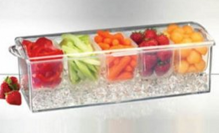 ACRYLIC CONDIMENTS ON ICE TRAY