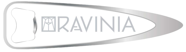 RAVINIA SILVER & WHITE BOTTLE OPENER