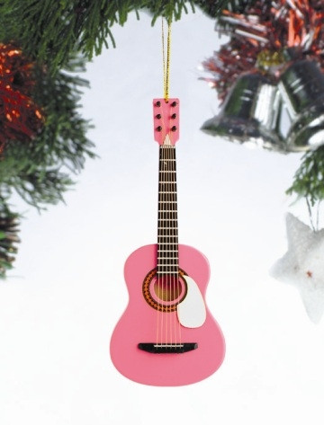 PINK GUITAR ORNAMENT - The Festival Shop