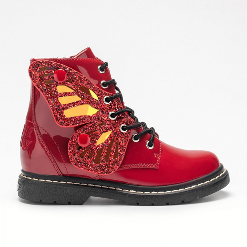 Fairy Wings Red Patent