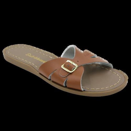 Slides Tan Leather