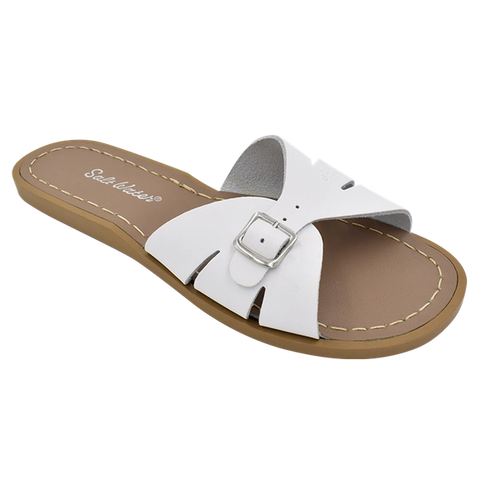 Slides White Leather