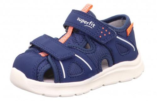 Wave Sandal, Blue- Orange-Tecno-Textil