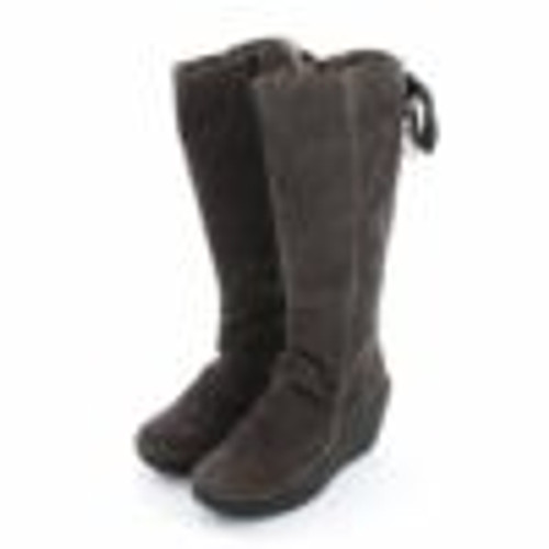 Tall back with wedge, Dark Grey Suede